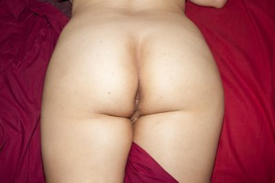 Beauty wife demonstrates her gorgeous booty. Graceful MILF babe with small titties and neat ass stripping off her clothes