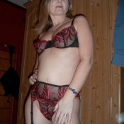 Housewife in lacey lingerie and stockings