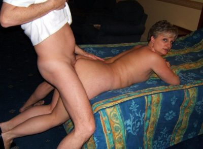 Passionate doggystyle fucking mature babe in the bedroom. Homemade made sex with horny milf