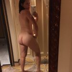 Inexperienced mom takes nude self shot around her house. First time hottie wife shows off her butt