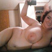 MILF chubby with big tits naked selfie