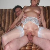 Mature blonde jumps on top of a hard cock