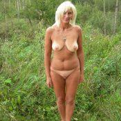 Hot blonde MILF completely naked