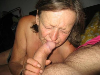 Horny granny licks and sucks a long dick on a homemade porn picture. Hot old mature lady is trying to make the best blowjob ever