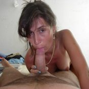 Horny mom gives her husband a blowjob