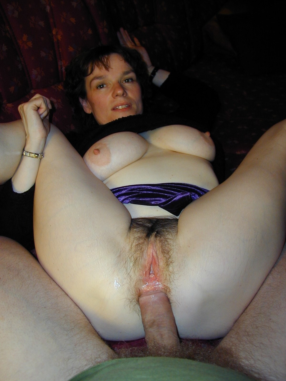 Horny amateur MILF riding a cock being homemade analized. Stunning wife with a hairy pussy gets butt banged