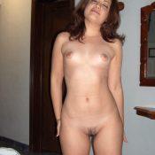 Sexy brunette MILF exposing her hot body