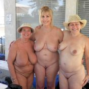 Three grannies naked showing natural bodies