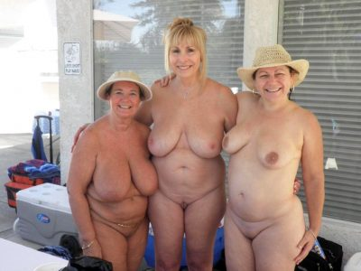 Naked grannies display their charms without any complexes. Three old nude grannys show off their natural bodies for us