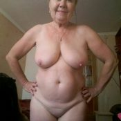 Naked russian granny exposes erotic body